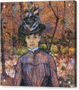 Portrait De Suzanne Valadon Madame Suzanne Valadon, Artiste Peintre 1885 Acrylic Print