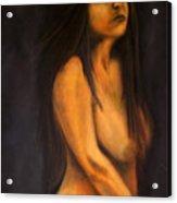 Portrait In Oil Acrylic Print