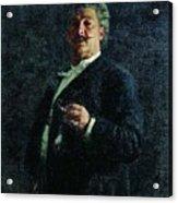 Portrait Mo Mikeshin 1888 Ilya Repin Acrylic Print