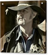 Portrait Of A Bygone Time Sheriff Acrylic Print