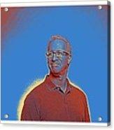 Portrait Of A Caucasian Male Acrylic Print
