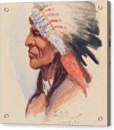 Portrait Of A Chief Acrylic Print