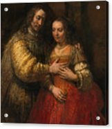 Portrait Of A Couple As Figures From The Old Testament Acrylic Print