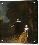 Portrait Of A Couple In A Landscape Acrylic Print