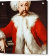 Portrait Of A Gentleman In Oriental Costume Acrylic Print