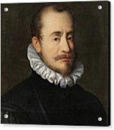 Portrait Of A Gentleman Workshop Of Hans Von Aachen - Circa 1600 Acrylic Print