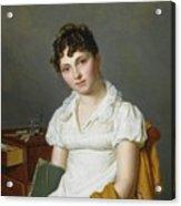Portrait Of A Lady Half Length Acrylic Print