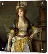 Portrait Of A Lady In Turkish Fancy Dress Acrylic Print