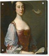 Portrait Of A Lady In Van Dyck Dress Acrylic Print