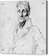 Portrait Of A Man Possible Edma Bochet Acrylic Print