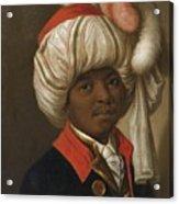 Portrait Of A Man Wearing A Turban Acrylic Print