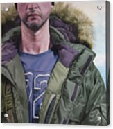 Portrait Of A Mountain Walker. Acrylic Print