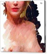 Portrait Of A Naked Lady Acrylic Print