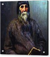 Portrait Of A Peasant 1889 Ilya Repin Acrylic Print