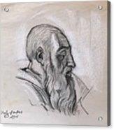 Portrait Of A Phrophet After Michelangelo Acrylic Print