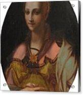 Portrait Of A Richly Dressed Lady Acrylic Print