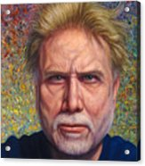 Portrait Of A Serious Artist Acrylic Print by James W Johnson
