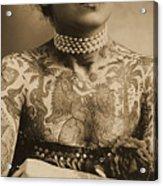 Portrait Of A Tattooed Woman Acrylic Print