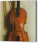 Portrait Of A Violin Acrylic Print