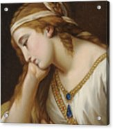 Portrait Of A Woman As An Allegorical Figure Acrylic Print