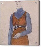 Portrait Of A Woman Late Xix - Early Xx Century Kuzma Sergeevich Petrov-vodkin Acrylic Print