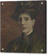 Portrait Of A Woman Paris  March  June 1886 Vincent Van Gogh 1853  1890 Acrylic Print