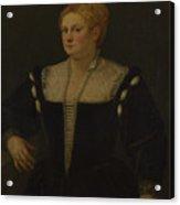 Portrait Of A Woman Perhaps Pellegrina Morosini Capello Acrylic Print