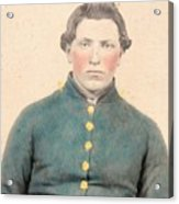 Portrait Of A Young  Civil War Soldier 3 Acrylic Print