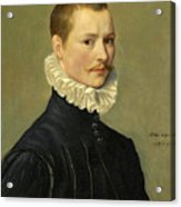 Portrait Of A Young Gentleman Head And Shoulders At The Age Of 23 Acrylic Print