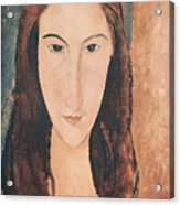 Portrait Of A Young Girl Acrylic Print by Amedeo Modigliani