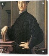 Portrait Of A Young Man Acrylic Print by Agnolo Bronzino