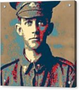 Portrait Of A Young  Wwi Soldier Series 19 Acrylic Print
