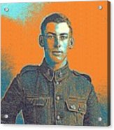 Portrait Of A Young  Wwi Soldier Series 6 Acrylic Print