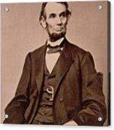 Portrait Of Abraham Lincoln Acrylic Print by Mathew Brady