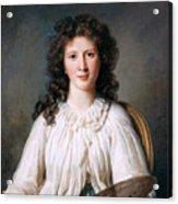 Portrait Of Adelaide Binart Acrylic Print