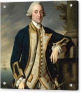 Portrait Of Admiral Sir Hugh Palliser 1st Bart Acrylic Print