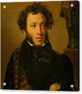 Portrait Of Alexander Pushkin 1827 Acrylic Print