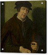 Portrait Of An Almoner Of Antwerp Acrylic Print