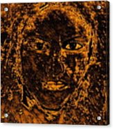 Portrait Of An Ancient Woman Acrylic Print