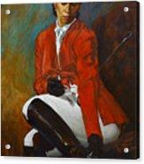 Portrait Of An Equestrian Acrylic Print