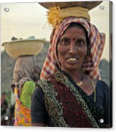 Portrait Of An Indian Lady Acrylic Print