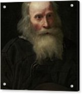 Portrait Of An Old Man Begging By Michael Sweerts Acrylic Print