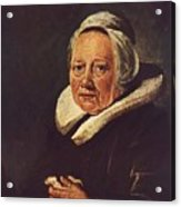 Portrait Of An Old Woman 1645 Acrylic Print