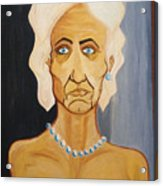 Portrait Of An Old Woman Acrylic Print