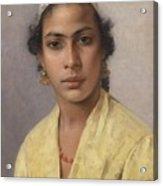 Portrait Of An Oriental Acrylic Print