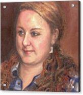 Portrait Of Andrea Acrylic Print