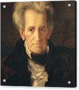 Portrait Of Andrew Jackson Acrylic Print