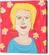 Portrait Of Ania Acrylic Print