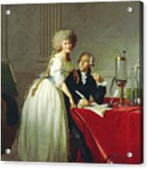 Portrait Of Antoine-laurent Lavoisier And His Wife Acrylic Print