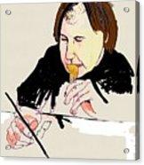 Portrait Of Artist Acrylic Print